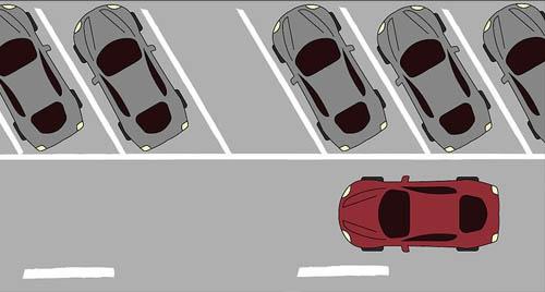 خط کشی پارکینگ مورب