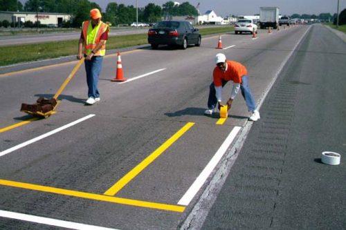 برچسب خط کشی پارکینگ