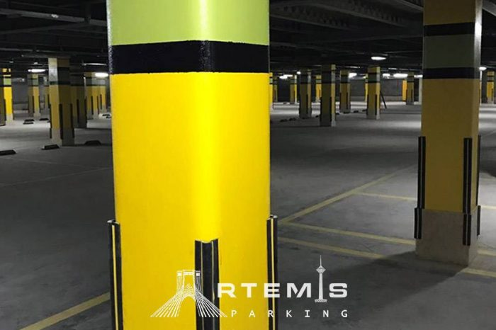 نصب ضربه گیر ستون پارکینگ